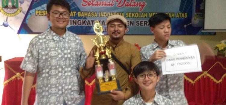 Juara II Lomba Debat Bahasa Indonesia Se-Kabupaten Serang
