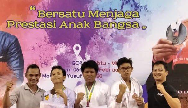 Empat Atlet Karate Raih Medali di Kejuaraan Karate Antarpelajar Se-Provinsi Banten