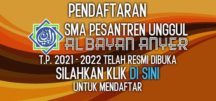 PENERIMAAN PESERTA DIDIK BARU T.P. 2021-2022 RESMI DUBUKA